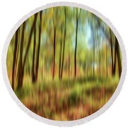 Forest Vision Round Beach Towel