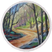 Forest Way Round Beach Towel