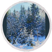 Forest's Fairy-tale. Round Beach Towel