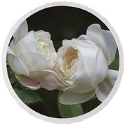Forever And Always - Desdemona Roses Round Beach Towel