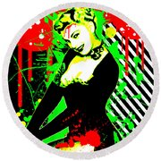 Forever Pinup IIi Round Beach Towel