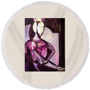 Forever Together Round Beach Towel