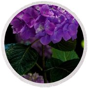 Forever Violet Round Beach Towel