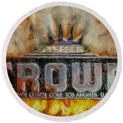 Forged In Fire - Crown - Oil Round Beach Towel