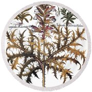 Forget-me-not & Acanthus Round Beach Towel