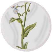 Forget Me Not Round Beach Towel
