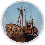 Forgotten Ship Wreck Round Beach Towel