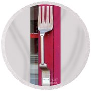 Fork Door Handle Round Beach Towel