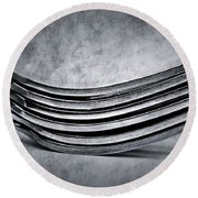 Forks - Antique Look Round Beach Towel