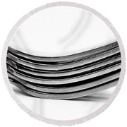 Forks Round Beach Towel