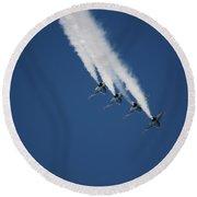 Formation Aerobatics Round Beach Towel