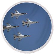 Formation Flying Round Beach Towel