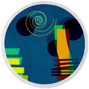 Formes - 03b Round Beach Towel by Variance Collections