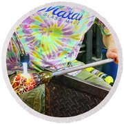 Forming The Head Round Beach Towel