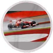 Formula 1 British Grand Prix Round Beach Towel