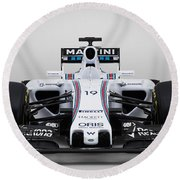 Formula 1 Williams Fw37 Round Beach Towel