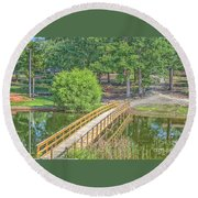 Forrest Lakes Round Beach Towel