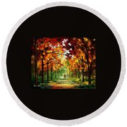 Forrest Of Dreams Round Beach Towel