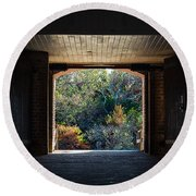 Fort Clinch Portal Round Beach Towel