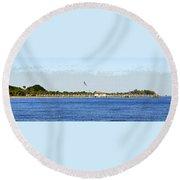 Fort Desoto South Pier Round Beach Towel