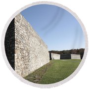Fort Frederick In Maryland Round Beach Towel