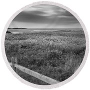 Fort Hill Bw Round Beach Towel