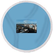 Fort Lauderdale Aerial Photography Round Beach Towel