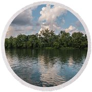 Fort Loudoun Sunset Round Beach Towel by Todd Blanchard