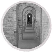 Fort Macon Going Home Round Beach Towel