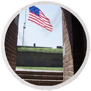 Fort Mchenry Star Spangled Banner Round Beach Towel