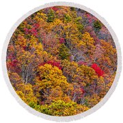 Fort Mountain State Park Cool Springs Overlook Round Beach Towel