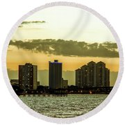 Fort Myers Skyline Round Beach Towel