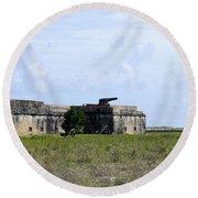 Fort Pickens Round Beach Towel