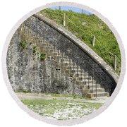 Fort Pickens Stairs Round Beach Towel