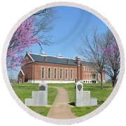 Fort Smith National Historic Site Gateway C Round Beach Towel