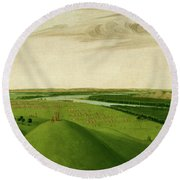 Fort Union, Mouth Of The Yellowstone River, 2000 Miles Above St. Round Beach Towel