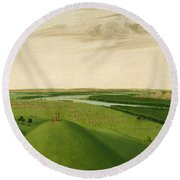 Fort Union Mouth Of The Yellowstone River 2000 Miles Above St Louis Round Beach Towel