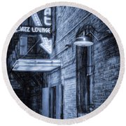 Fort Worth Impressions Scat Lounge Bw Round Beach Towel