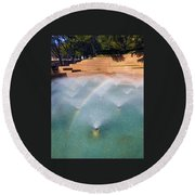 Fort Worth Water Gardens - Aerated Pool Round Beach Towel