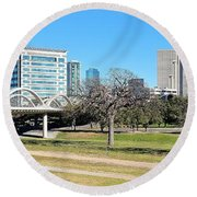 Fort Worth Wide Angle Round Beach Towel