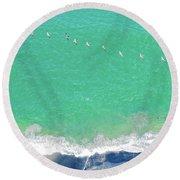 Forteen Pelicans Round Beach Towel
