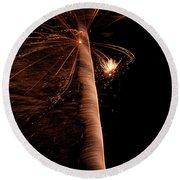 Fourth Of July Fireworks Twelve Round Beach Towel