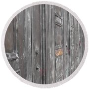 Fortress Doors Round Beach Towel