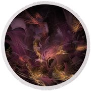 Fortress Of The Mind - Fractal Art Round Beach Towel
