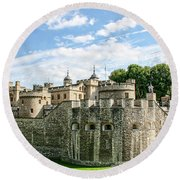 Fortress Of The Tower Of London Round Beach Towel