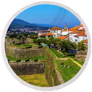 Fortress Walls Round Beach Towel