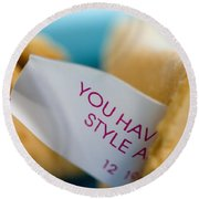 Fortune Cookie Round Beach Towel