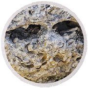 Fossil Rock Abstract - Eyes Round Beach Towel