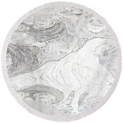Fossilizing Round Beach Towel
