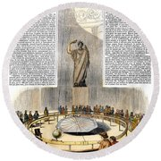 Foucaults Pendulum Round Beach Towel